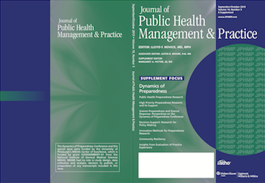JPHMP Journal Cover - Dynamics of Preparedness